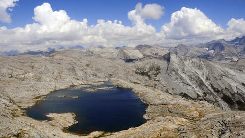 Time-lapse of clouds over the mountains and Moose Lake in Sequoia National Forest Footage