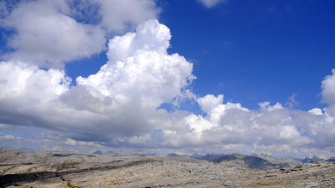 Time-lapse of clouds over the mountains in Sequoia... Stock Video Footage