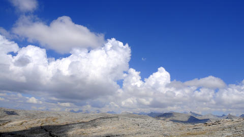 Time-lapse of clouds over the mountains in Sequoia National Forest Footage