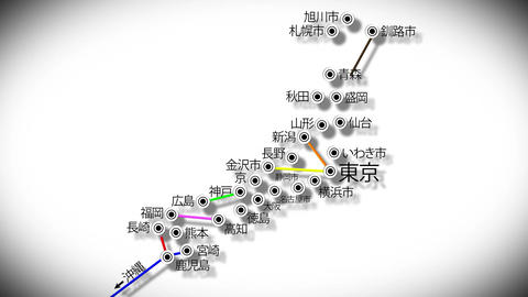 4 K Japan Cities Subway Map Design 4 Stock Video Footage