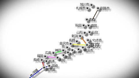 4 K Japan Cities Subway Map Design 4 Stock Video Footage
