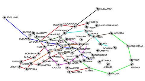 European Cities Subway Map Design 2 Stock Video Footage