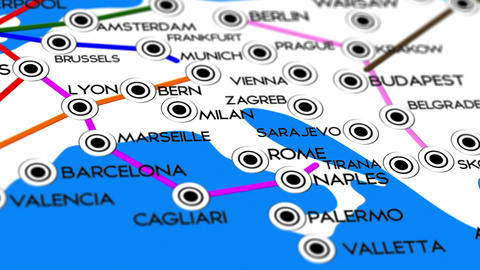 Europe Map Network Design Macro 9 Animation
