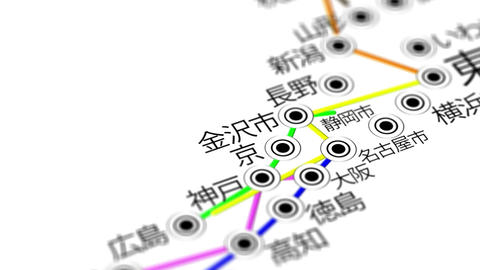 Japan Map Network Design Macro 4 Animation