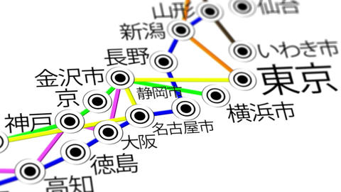 Japan Map Network Design Macro 6 Animation