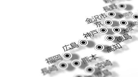 Japan Map Network Design Macro 10 Stock Video Footage