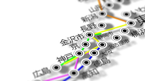 Japan Map Network Design Macro 10 Animation