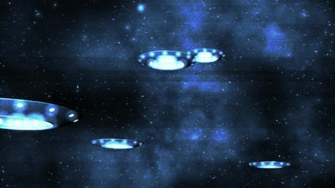 UFO Earth Invasion 2 Stock Video Footage
