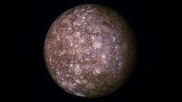 Callisto Moon stock footage