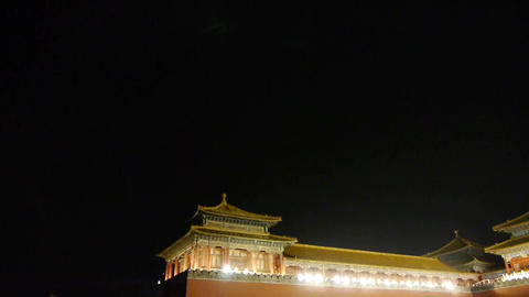 Panoramic of Beijing Forbidden City & Gorgeous... Stock Video Footage