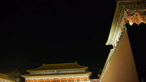 close-up of Beijing Forbidden City & Gorgeous palace.the Great Wall battleme Footage
