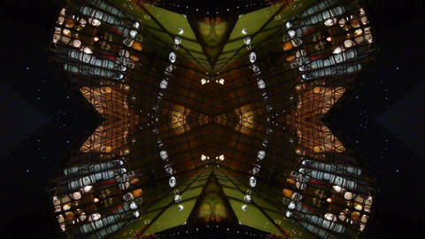 Kaleidoscope tunnel channel X pattern,sci-fi fantasy style Footage