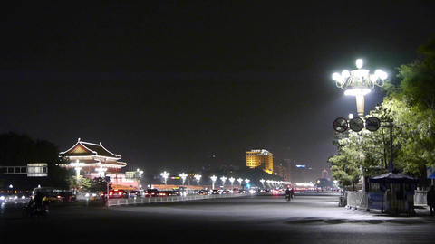 Bustling Chang'an Street night scene,Beijing Tiananmen... Stock Video Footage