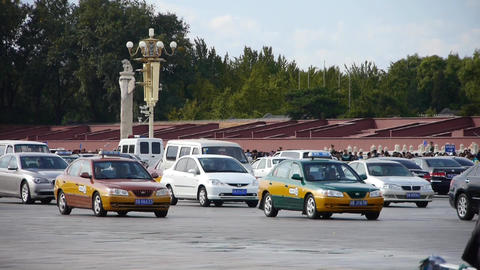 Bustling Chang'an Street traffic,Beijing Tiananmen Square... Stock Video Footage
