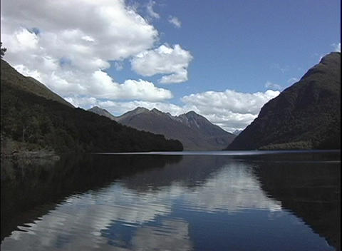 A point-of-view shot of Mitre Peak from a fjord in... Stock Video Footage