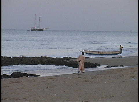West Africans in traditional dress talk to one another on... Stock Video Footage