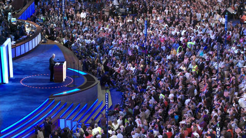 Bill Clinton gives delivers a pro barack obama speech at... Stock Video Footage