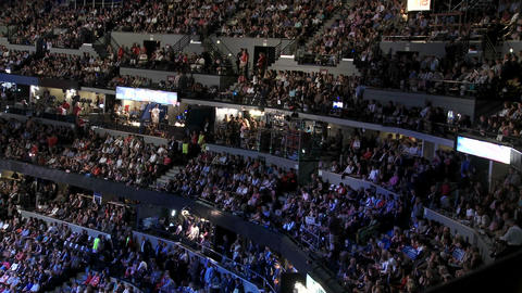 A packed stadium at Pepsi Center as Bill Clinton delivers a pro Barack Obama speech at the 2008 Demo Footage