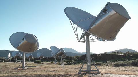 satellites search the heavens for extra terrestrial life Stock Video Footage