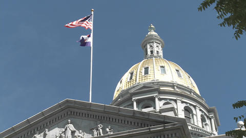 The State Capital building in Denver Colorado Stock Video Footage