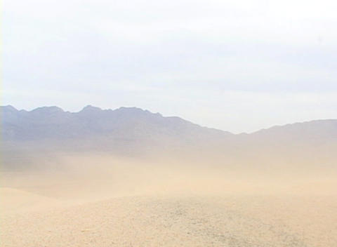 Sand blows across a desert Stock Video Footage