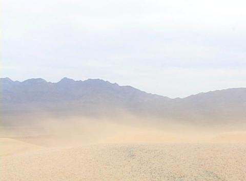 Sand blows across a desert Stock Video Footage