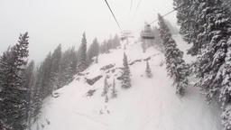 Lift at a ski resort in Salt Lake city Footage