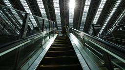 POV footage of elevator, Osaka, Japan Footage
