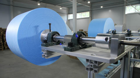 equipment with rolls of color material for protective masks Live Action
