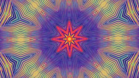 Digital elegant geometrical futuristic iridescent kaleidoscope background Live Action