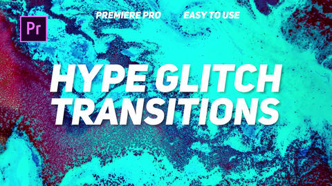 Hype Glitch Transitions Premiere Proエフェクトプリセット