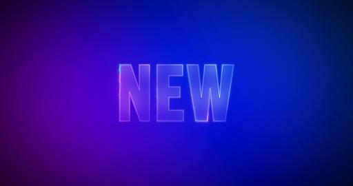 New. Electric lightning words. Logotype Animation