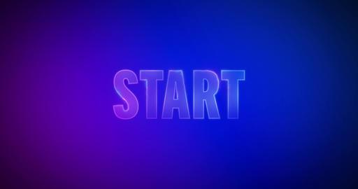 Start. Electric lightning words. Logotype Animation