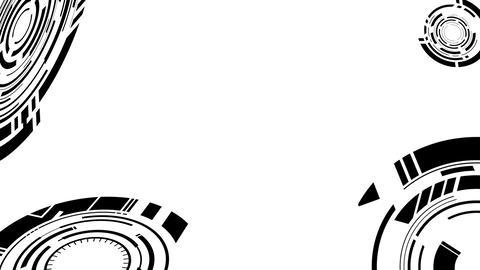 ANIMATION BACKGROUND【CYBER BLACK】7 Color + Alpha Channel Set 0