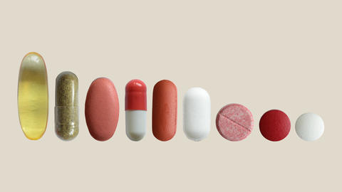 Various Medical Tablets And Pills CG動画
