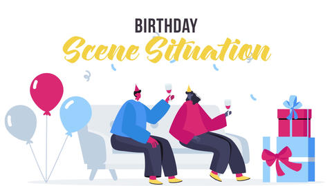 Birthday - Scene Situation Plantilla de After Effects