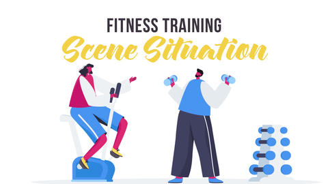 Fitness training - Scene Situation After Effects Template