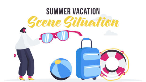 Summer vacation - Scene Situation After Effects Template