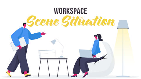 Workspace - Scene Situation After Effects Template