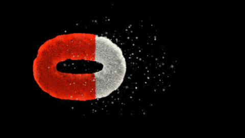 Animated hairy santa letters bouncing in to frame with snowflakes and alpha channel 0 Animation