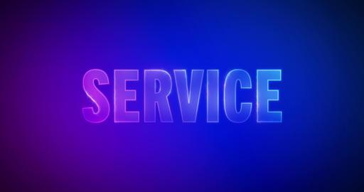 Service. Electric lightning words. Logotype Videos animados