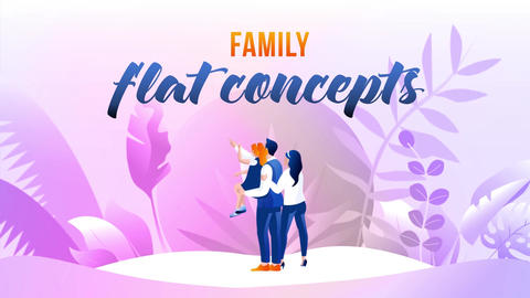 Family - Flat Concept After Effects Template