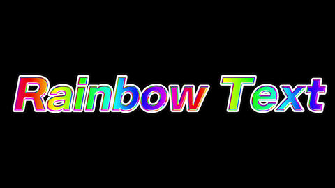 Rainbow text After Effects Animation Preset