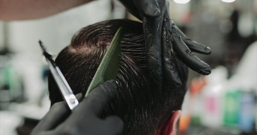 Hair care. Haircut and styling in a beauty salon Live Action