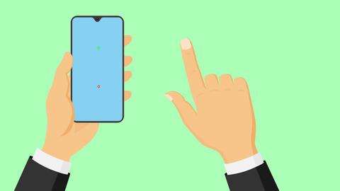 Hand clicking green check Videos animados