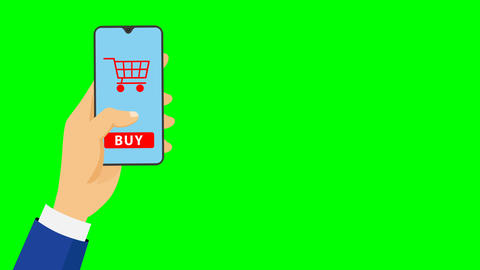 Online shopping with mobile app animation CG動画
