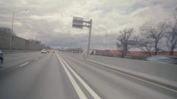 View while driving fast on the highway Live Action