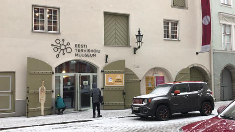Tallinn, Estonia, A car parked in front of a building Live Action