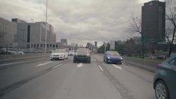 Vehicles traffic on urban highway Live Action