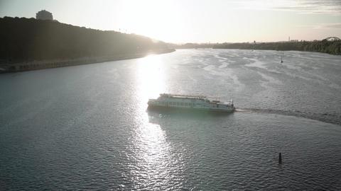 2020.07.08 - Kiev, Ukraine: Transprt, reservoirs, travel, navigation concept - Live Action